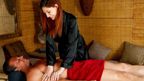 Ashlyn Molloy at the Massage Parlor